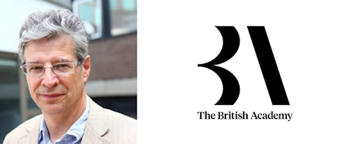 Professor Andrew Pickles and the BA logo